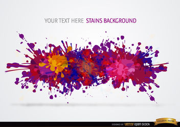 Colorful paint drops background - vector gratuit #165795