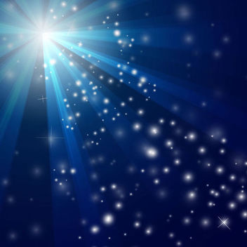 Sun Glares & Snowy Sparkles Blue Background - vector gratuit #165855