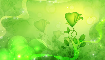 Fluorescent Green Abstract Floral Design - Kostenloses vector #165905