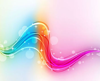 Abstract Rainbow Waves & Splats Background - Kostenloses vector #165945
