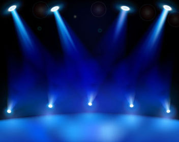 Realistic Blue Stage Light Background - Free vector #165985