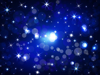 Shiny Bokeh with Starlight Night Background - vector gratuit #166025