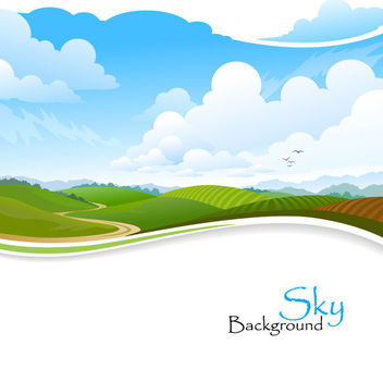 Clean & Fresh Nature with Landscape - vector gratuit #166075