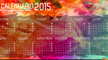 2015 Calendar polygon background Spanish - Free vector #166085