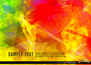 Polygonal flames background - vector gratuit #166115