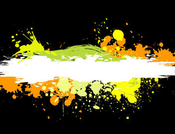 Colorful Grungy Stains on Black - vector gratuit #166145
