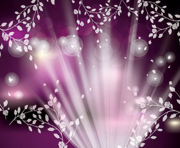 Fluorescent Shiny Floristic Background with Bokeh - vector gratuit #166155