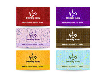 Creative Cafeteria Business Card Pack - Kostenloses vector #166255