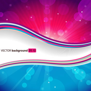 Stylish Background with Waves & Sun Glares - Free vector #166345