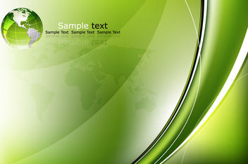 Glossy Green Business Background with Globe - vector #166385 gratis