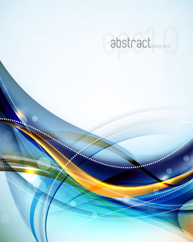 Colorful Fluorescent Lines & Curves Background - vector gratuit #166405