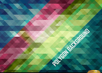 Oblique polygonal stripes background - Free vector #166425