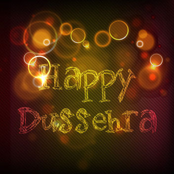 Abstract Happy Dussehra Glowing Wallpaper - vector gratuit #166455