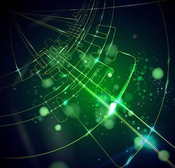 Green Tech Line Glowing Background - vector gratuit #166505
