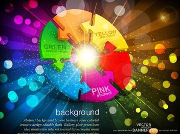 Fluorescent Vivid Arrow Wheel Background - vector gratuit #166625