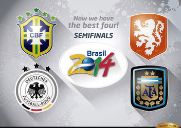 Brazil 2014 semi-finals teams - vector gratuit #166635