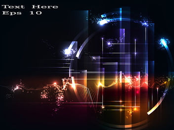 Colorful Energy Tech Circle Background - vector #166645 gratis