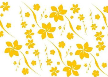 Flat Seamless Yellow Floral Pattern - бесплатный vector #166665