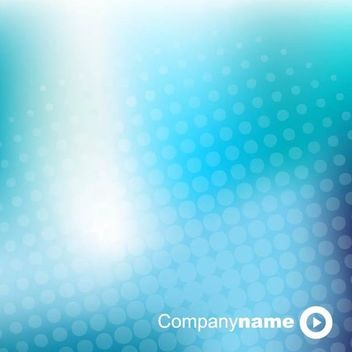Blue Glowing Halftone Dot Business Background - Free vector #166715
