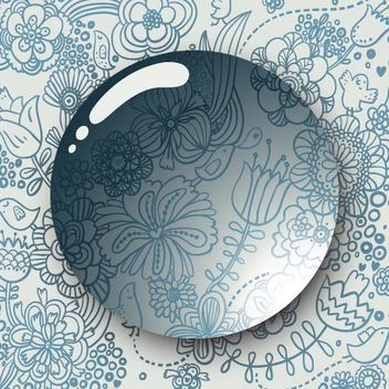 Kids Drawn Floral Pattern Water Drop - vector #166725 gratis