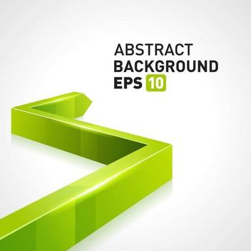Green 3D Arrow Business Background - vector #166735 gratis