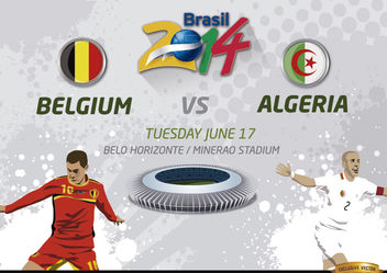 Belgium Vs. Algeria match for Brazil 2014 - Kostenloses vector #166795