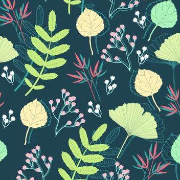 Funky Style Spring Plants Background - vector #166825 gratis
