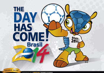 Brazil 2014 Begins with mascot Fuleco - бесплатный vector #166845