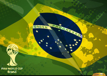 Brazil grunge flag football cup logo - бесплатный vector #166875