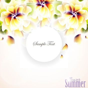 Bright Hawaiian Flower Summer Background - бесплатный vector #166885