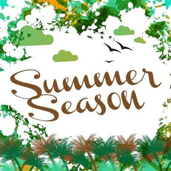 Abstract Grungy Summer Season Card - vector gratuit #166925