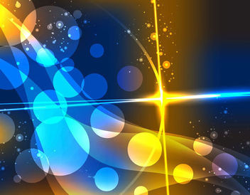 Colorful Abstract Bokeh Bubbles Dynamic Background - Free vector #166995