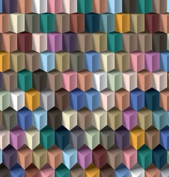 Geometric Abstract 3D Cubic Pattern - Free vector #167015