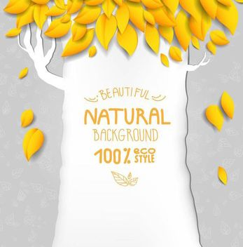 Funky Autumn Tree Nature Background - vector gratuit #167025