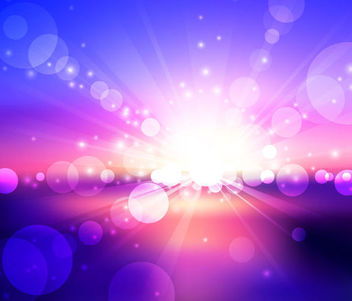 Sunlight Glares on Colorful Background - vector gratuit #167055