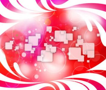 Abstract Background with Swirls, Squares & Circles - Free vector #167085