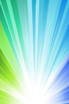 Shiny Blue & Green Sun Rays Background - бесплатный vector #167095