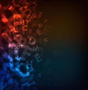 Dark Abstract Alphabetic Background - Free vector #167165
