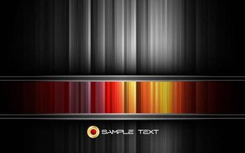 Black and Colorful Striped Background Template - Free vector #167195