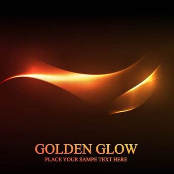 Golden Glow Abstract Spiral Line Background - vector #167205 gratis
