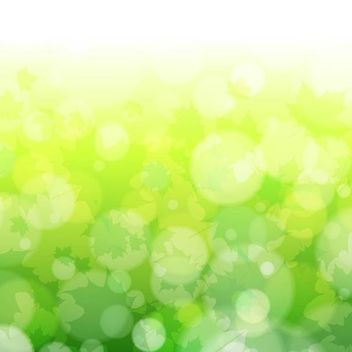 Green Blurry Nature Background with Bokeh Bubbles - vector gratuit #167225