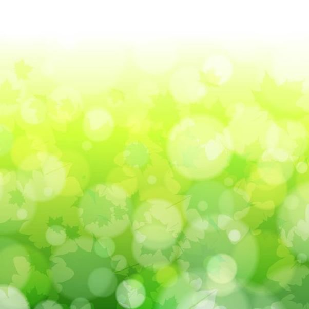 Green Blurry Nature Background with Bokeh Bubbles - Kostenloses vector #167225