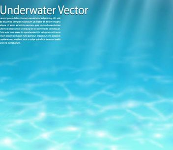 Realistic Blue Underwater Background - Kostenloses vector #167245