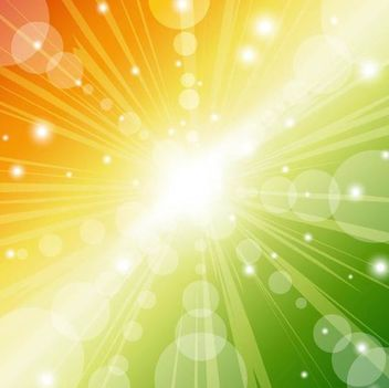 Abstract Colorful Sunbeam Background with Bubbles - vector #167255 gratis
