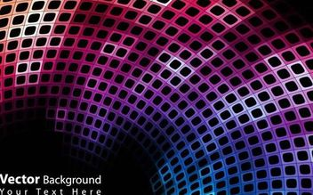 Abstract Colorful Curvy Disco Background - vector gratuit #167315