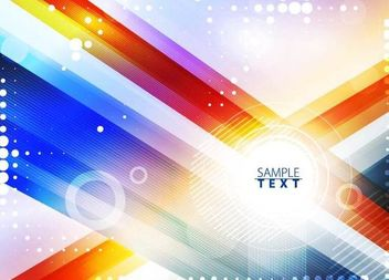 Colorful Glowing Background with Dynamic Lines - vector #167335 gratis