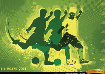 Soccer Player in Brasil 2014 Background - Free vector #167475