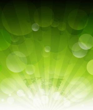 Green Earth Background with Bubbles - Free vector #167525