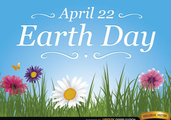 Earth day daisies wallpaper - бесплатный vector #167545
