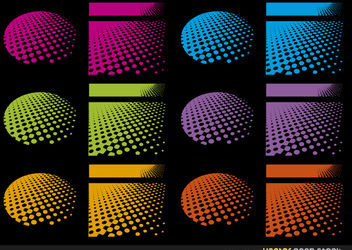 Halftone designs in several colours - vector gratuit #167585